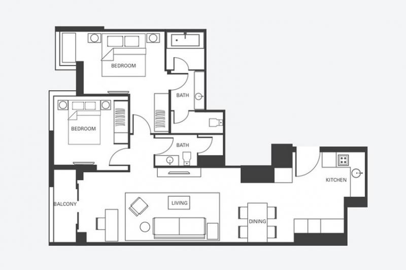 Fraser Residence Two Bedroom Delux