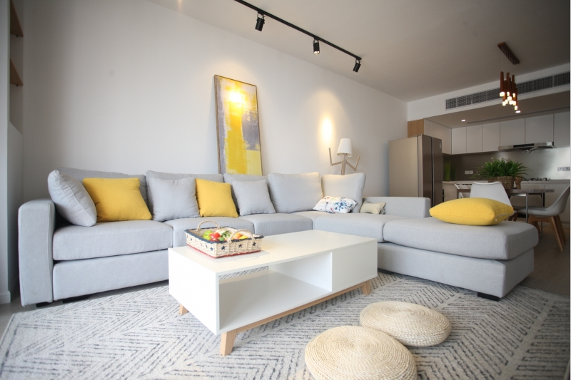 Newly renovated apartment for rent in Mingyuan Century City with floor heating